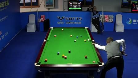 2020秦皇岛银行·乔氏杯第八届中式台球国际大师赛全球总决赛 阿尔宾·欧斯纯vs恩里克·罗哈斯 (3)