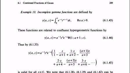 不完全伽马函数的3个公式