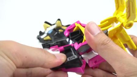 8x头对恐龙迷你力玩具电磁变形汽车