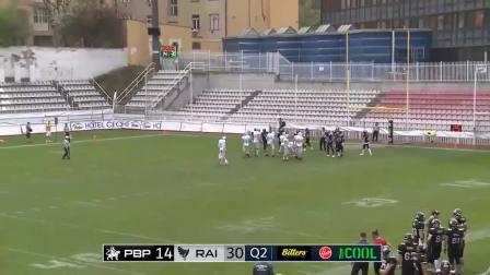 2018赛季中欧美式橄榄球联盟Prague Black Panthers vs SWARCO Raiders Tirol