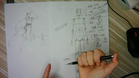 零基础快速上手服装效果图人体透视画技法