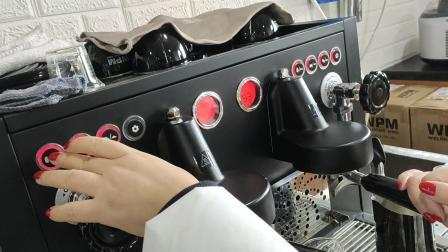 惠家510咖啡机调试 (1)惠家KD-510专业双头半自动商用咖啡机意式
