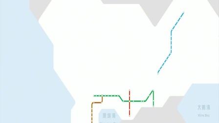 深圳地铁2004年-2022年线路图