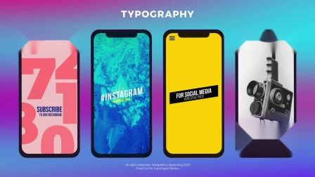 FCPX插件 Instagram Graphics Pack