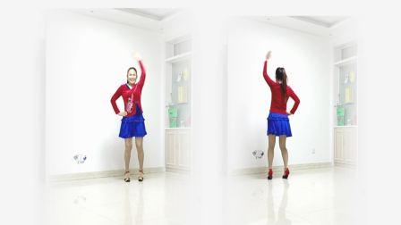 好心情蓝蓝广场舞原创动感健身舞【多想抱抱你正背面】附教学分解