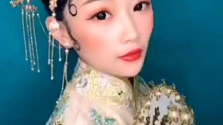 青岛知名化妆培训班-曼雅娜,学员考试作品
