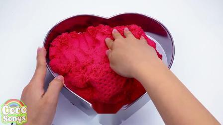 太空沙用磨具做出爱心西瓜,启蒙玩具