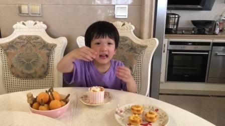 中三班枇杷奶油小蛋糕制作