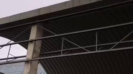 水泥厂吊装25米跨度拱形屋顶