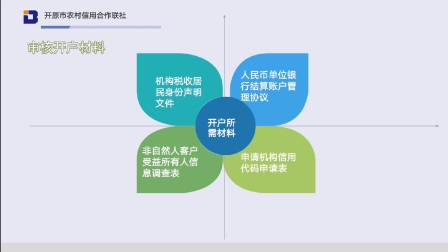 开原联社 企业银行结算账户开户操作流程