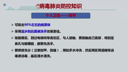 新冠病毒肺炎防控视频(教师培训)2