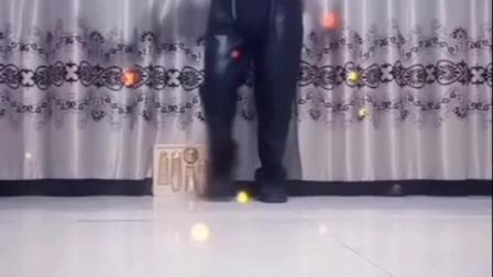 吉林省白城市洮北区平安镇红光村舞之花舞蹈队水兵舞【情歌飞扬】在家跟我练 提高免忆力 留影2020/02/21