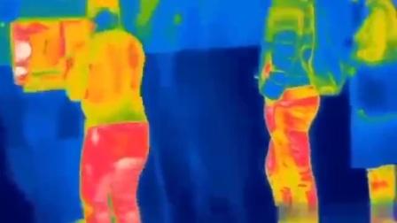 采用非接触式热成像,终于看到了色彩艳丽的放屁
