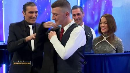 欧洲魔术师的表演