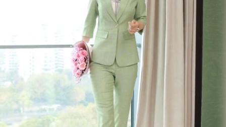 粉色西装外套女春装新款秋韩版时尚气质女神范网红小西服职业套装