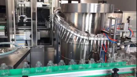 洗手液灌装线 洗手液灌装机 按压盖旋盖机.mp4