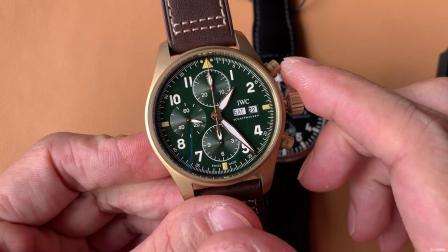ZF万国飞行员IW377709腕表更换瑞士ETA7750机芯