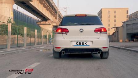 【杭州GeekAuto】高尔夫1.4T改CGW中尾段排气 声浪