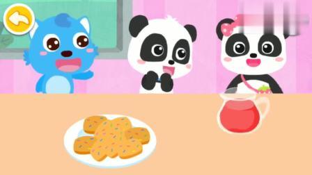 宝宝巴士奇妙救援队 熊猫奇奇和蓝猫分享饼干