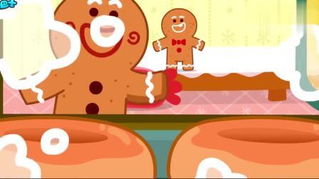 少儿益智宝宝巴士:圣诞节到了,好吃的甜甜圈和姜饼人会说话会跳舞