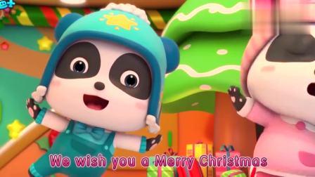 少儿益智宝宝巴士:圣诞节到了,小火车帮助奇奇妙妙一起装饰圣诞树