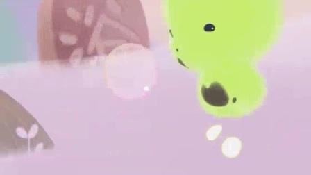 只有小绿不喜欢洗澡。