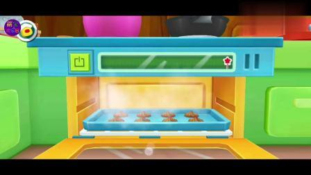 宝宝巴士奇妙料理餐厅手机小游戏,可可曲奇饼可别烤糊了