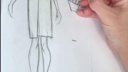 服装设计夹克款式图绘制-