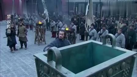 楚汉传奇:项羽借兵被诸侯刁难让他举鼎,项羽竟单手举起,不愧是西楚霸王