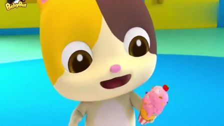 宝宝巴士:冰激凌摊开始营业了,顾客结账的时候还可以刷卡