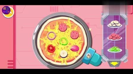 烤箱变身成为了烤箱机器人了,开始烤制我们的披萨吧