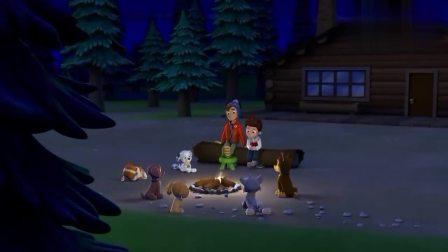 汪汪队:狗狗们好棒呀,真把男孩救出来了,不过男孩腿折了