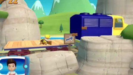 游戏汪汪队出发救援小砾选择合适的工具修复山路,真是太厉害了