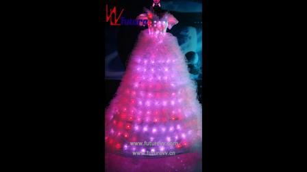 湖南未来创意定制LED高跷长裙婚纱 WL-22.mp4