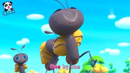 宝宝巴士:小猫咪在野餐,小蚂蚁看见蛋糕也要来吃,实在是太好玩了
