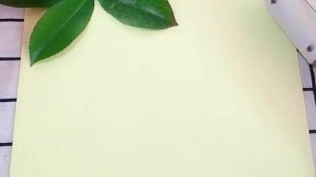手工创意画《树叶画》