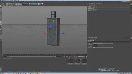 一个简单的香水瓶教程-C4D建模渲染