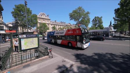 悠自游巴黎随上随下敞篷巴士