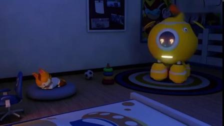 奇趣特工队:机器人也蛮贴心,凯奇睡觉踢被子,还帮凯奇盖被呢.mp4
