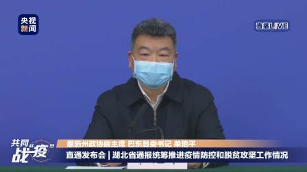 湖北疫情防控新闻发布会 巴东县如何克服疫情影响开展东西部扶贫协作?