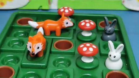 益智宝宝亲子幼教:小兔子被狐狸追着拍