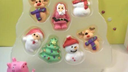 猪妈妈买了漂亮的棉花糖,乔治和佩奇好想吃,猪妈妈要她们回答问题才可以吃哦!