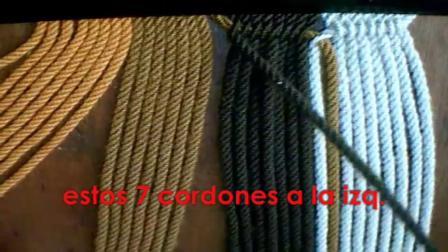 小果手作wayuu原版穿绳包带制作教程 款式7