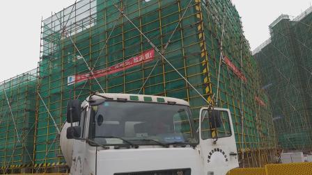 搅拌车架支架桥卸混凝土浇铸防土挡墙全过程泥工配合施工作业