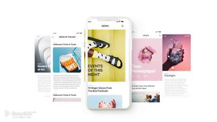 AE模板 iPhone XS811时尚简洁手机UI介绍APP宣传包装片头动画