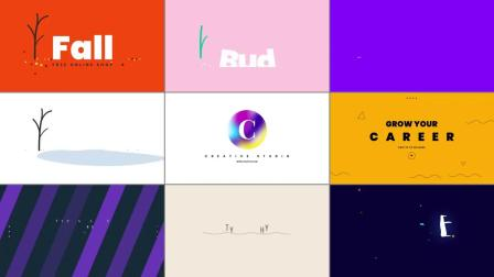 PR预设+AE脚本 550个创意时尚漂亮文字标题运动排版字幕包装动画