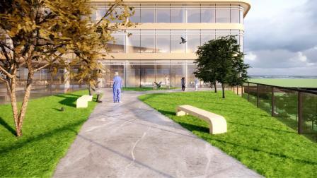 Enscape建筑动画小试-某医院屋顶花园漫游