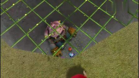 猪猪侠他们布置好陷阱,让怪兽去吸引玫瑰公主,瞬间一网打尽