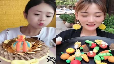 小可爱吃播:蛋糕、水果拼盘,任意选口味,是我向往的生活