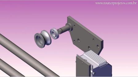 动画展示一台机械锯的总成和组装过程,安排的明明白白,长见识了